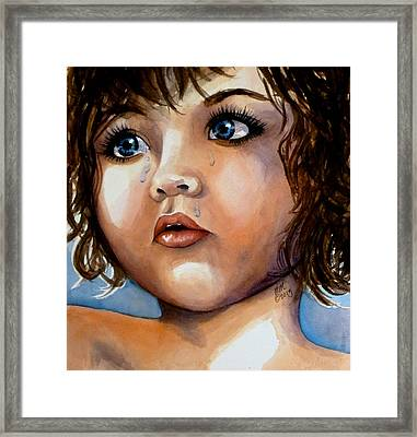 Crying Blue Eyes Framed Print