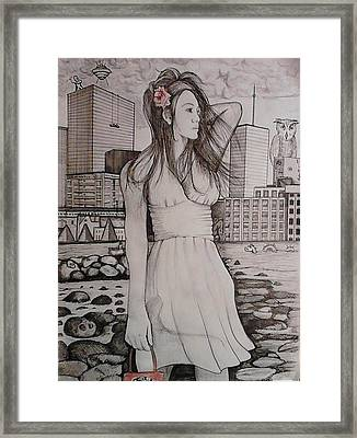 Framed Print featuring the painting Marissa by Richie Montgomery
