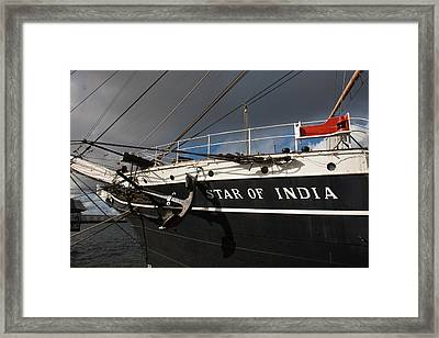 Maritime Museum On A Ship, Star Framed Print