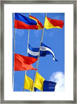 Maritime Signal Flags Framed Print