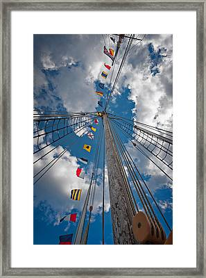 Maritime Signal Flags Framed Print by Bill Wakeley