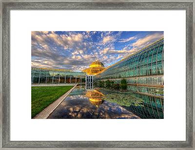 Marjorie Mcneely Conservatory Evening  Framed Print