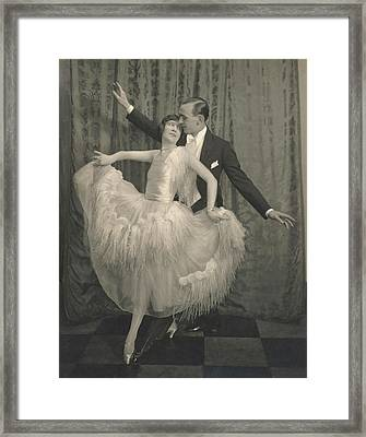 Marjorie Moss And Georges Fontana Dancing Framed Print