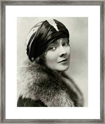 Marjorie Rambeau Wearing A Turban Framed Print by Irving Chidnoff