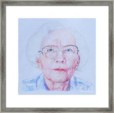 Marjorie's Portrait Framed Print by PainterArtist FINs husband Maestro
