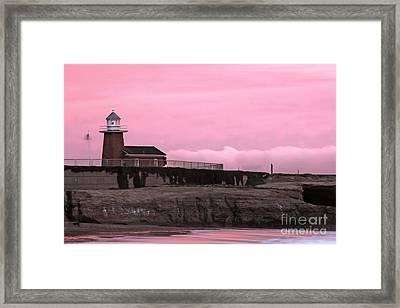 Mark Abbot Memorial Lighthouse In Santa Cruz Ca Framed Print by Paul Topp