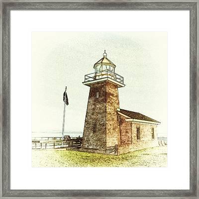 Mark Abbott Lighthouse Santa Cruz California Framed Print by Paul Topp