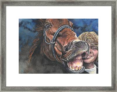 Mark And Shady..a Selfie Framed Print by Kim Sutherland Whitton
