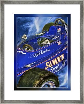 Mark Donohue 1972 Indy 500 Winning Car Framed Print by Blake Richards