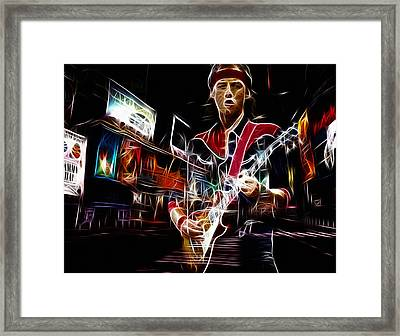 Mark Knopfler Framed Print by Steve K