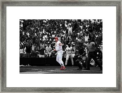 Mark Mcgwire Framed Print by Brian Reaves