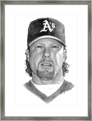 Mark Mcgwire Framed Print by Harry West