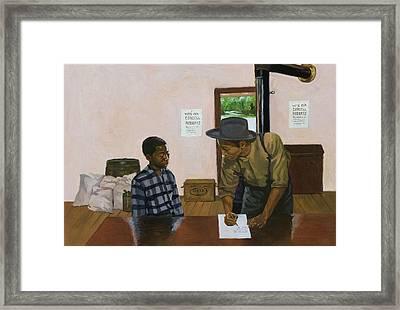 Mark Of Shame Framed Print