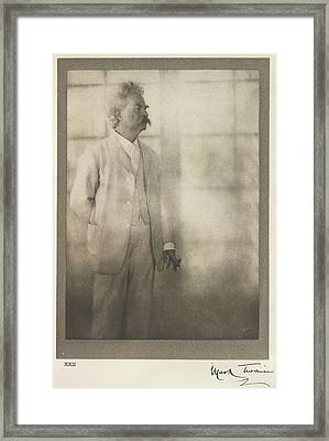 Mark Twain Framed Print by British Library