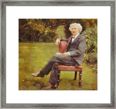 Mark Twain Framed Print by Dan Sproul