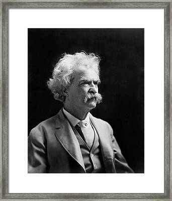 Mark Twain Framed Print by Library Of Congress