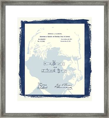 Mark Twain Patent Framed Print