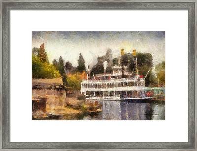 Mark Twain Riverboat Frontierland Disneyland Photo Art 02 Framed Print