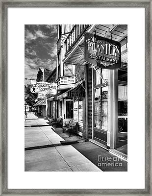 Mark Twain's Town Bw Framed Print