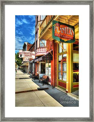 Mark Twain's Town Framed Print by Mel Steinhauer