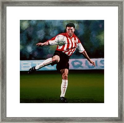 Mark Van Bommel Framed Print by Paul Meijering