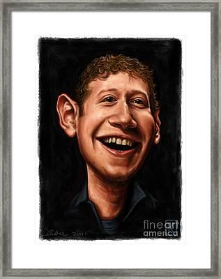 Mark Zuckerberg Framed Print by Andre Koekemoer
