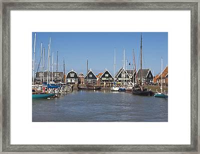 Marken Harbour Framed Print
