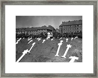 Markers Are For The Graves Of 80 Framed Print