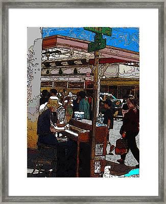 Market Busker 10 Framed Print