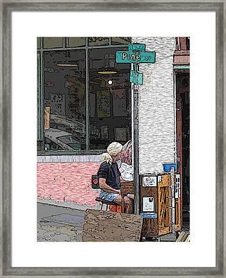 Market Busker 12 Framed Print