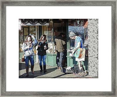 Market Busker 16 Framed Print
