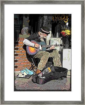 Market Busker 5 Framed Print by Tim Allen