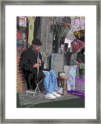 Market Busker 9 Framed Print by Tim Allen