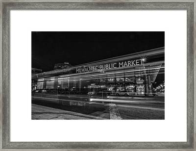 Market Framed Print by CJ Schmit