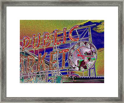 Market Clock 1 Framed Print by Tim Allen