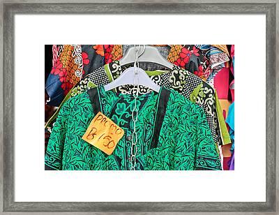 Market Clothes Framed Print by Tom Gowanlock
