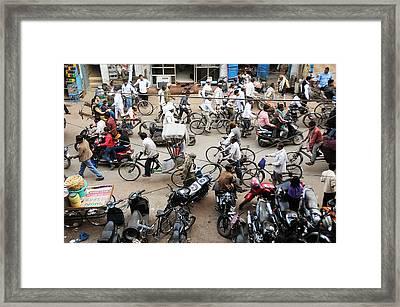 Market Clutter Framed Print