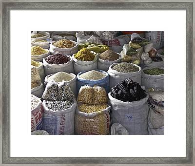 Market - Cusco Peru Framed Print