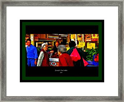 Market Day In Chinatown  Framed Print by Joseph Coulombe