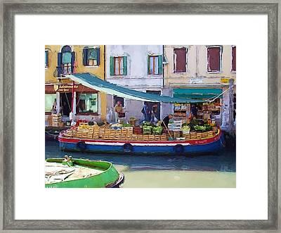 Market Day In Venice Framed Print
