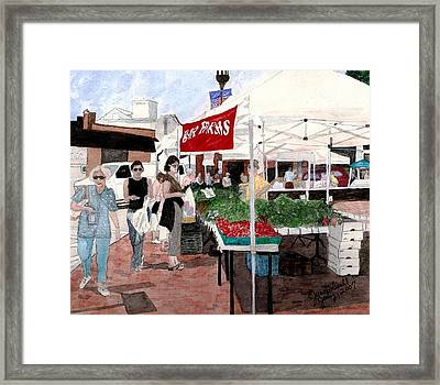 Framed Print featuring the painting Market Day by June Holwell