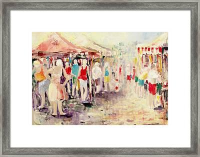 Market Day Framed Print by Ken Parkes