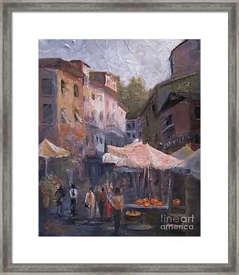 Market Day Framed Print by Leah Wiedemer