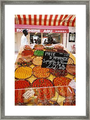 Market Day, Nice Framed Print by Holly C. Freeman