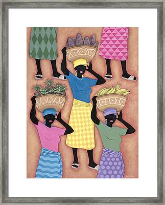 Market Day Framed Print by Sarah Porter