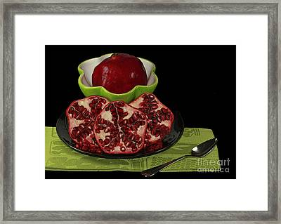 Market Fresh Pomegranate Fruit Framed Print by Inspired Nature Photography Fine Art Photography