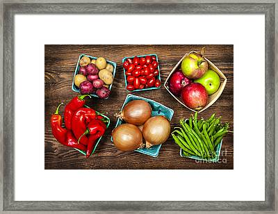 Market Fruits And Vegetables Framed Print by Elena Elisseeva