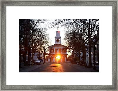 Market House Sunrise - Fayetteville - January 28 2015 Framed Print by Matt Plyler