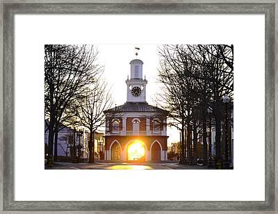 Market House Sunrise - Fayetteville - January 29 2015 Framed Print by Matt Plyler