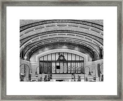 Market In Black And White Framed Print by Jenny Hudson